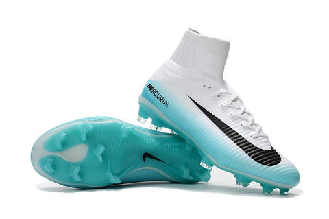 Mercurial Superfly V FG - White Turquoise - IN STOCK NOW - TNT Soccer Shop