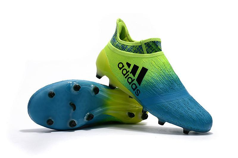 X 16+ PureChaos FG - Solar Green Turquoise Footwear TNT Soccer Shop