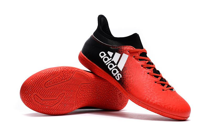 X 16.3 IC - Black Splash of Red Footwear TNT Soccer Shop