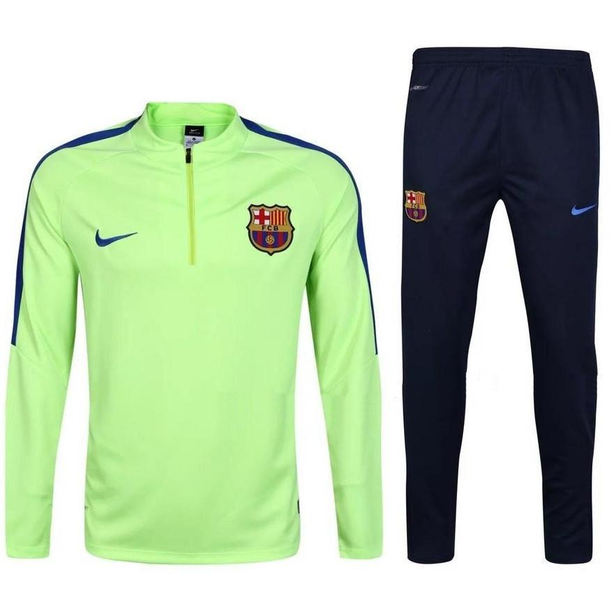 Barcelona 2017 Light Green Pre-Match Tracksuit - IN STOCK NOW - TNT Soccer Shop