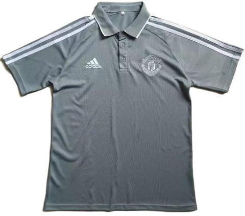 Man. United 2017 Grey Polo - IN STOCK NOW - TNT Soccer Shop