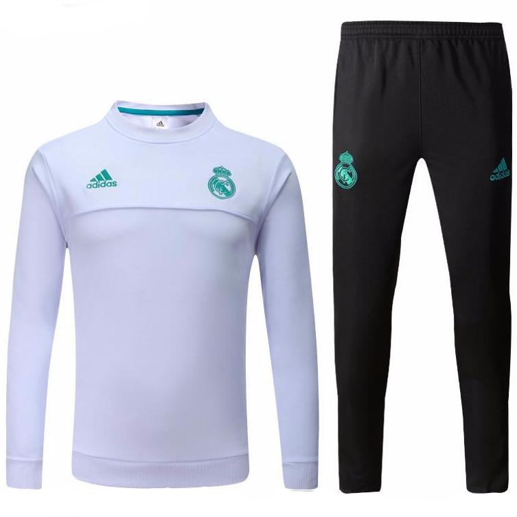 Real Madrid 17/18 White Tracksuit Tracksuit TNT Soccer Shop