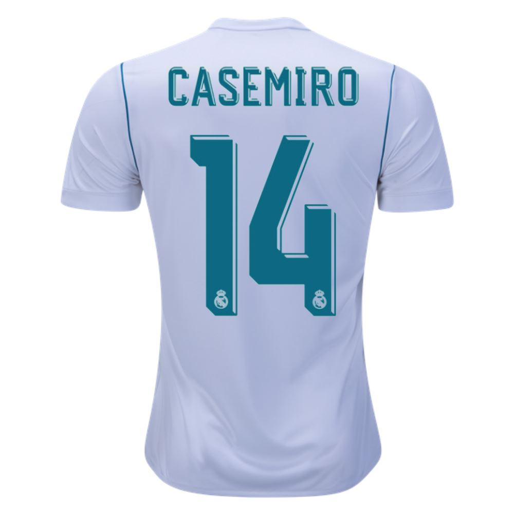Real Madrid 17/18 Home Jersey Casemiro #14 Jersey TNT Soccer Shop