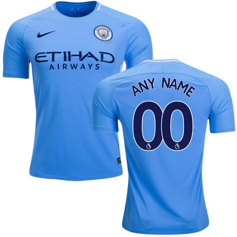 Man. City 17/18 Home Jersey Personalized - IN STOCK NOW - TNT Soccer Shop