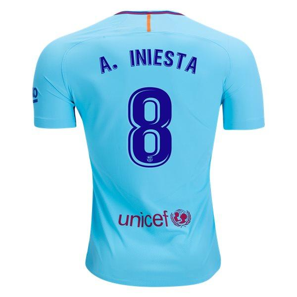 Barcelona 17/18 Away Jersey A. Iniesta #8 - IN STOCK NOW - TNT Soccer Shop