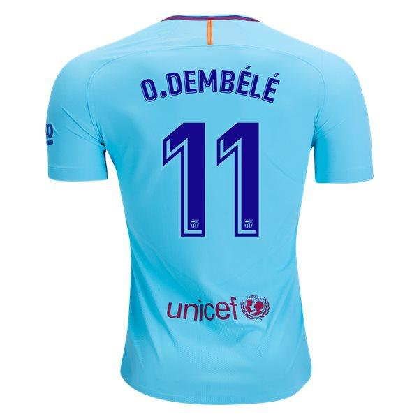 Barcelona 17/18 Away Jersey Dembélé #11 Ready to Ship! Jersey TNT Soccer Shop