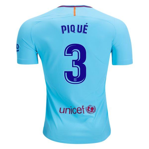 Barcelona 17/18 Away Jersey Piqué #3 Ready to Ship! Jersey TNT Soccer Shop