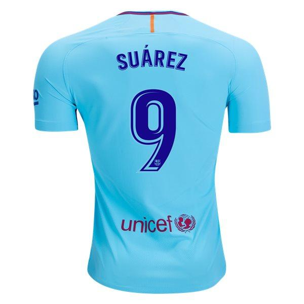 Barcelona 17/18 Away Jersey Suárez #9 - IN STOCK NOW - TNT Soccer Shop