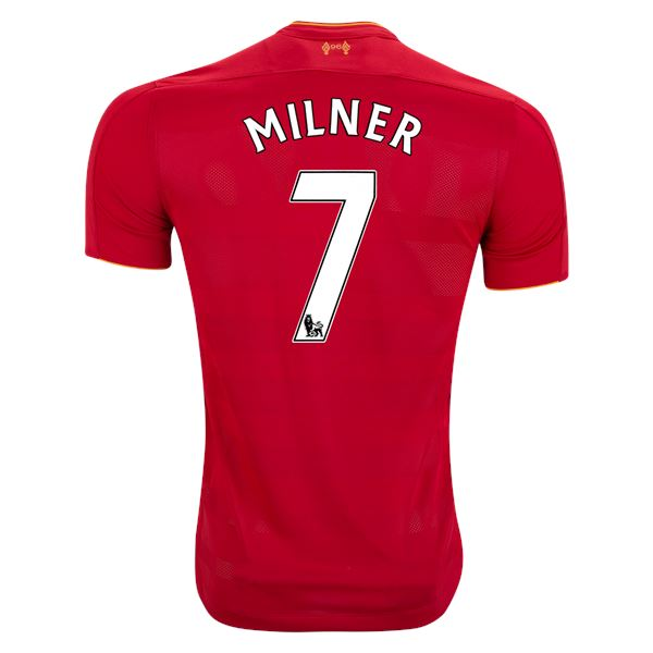 The Reds 16/17 Home Jersey Milner #7 Jersey TNT Soccer Shop