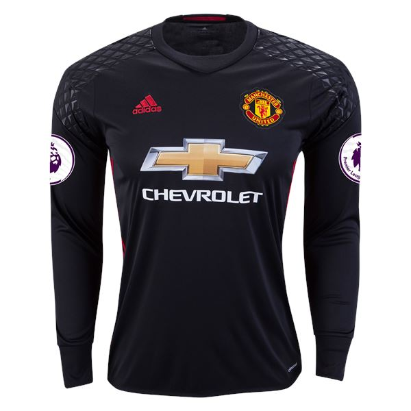 Red Devils 16/17 LS Goalkeeper Jersey Personalized Long Sleeve Jersey TNT Soccer Shop