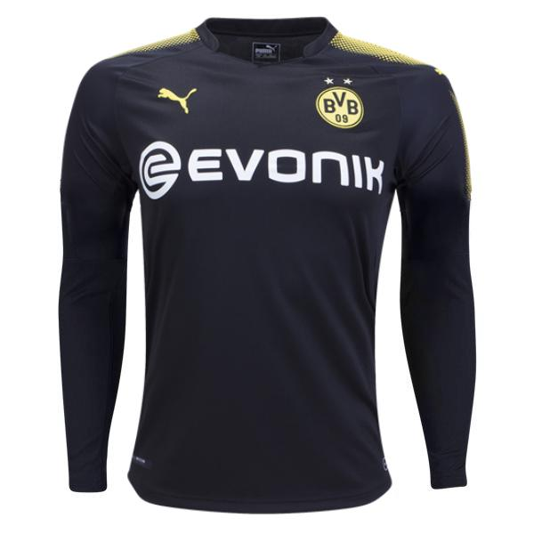 Borussia Dortmund 17/18 Away LS Jersey Personalized Long Sleeve Jersey TNT Soccer Shop