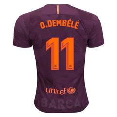 Barcelona 17/18 Third Jersey Dembélé #11 - IN STOCK NOW - TNT Soccer Shop