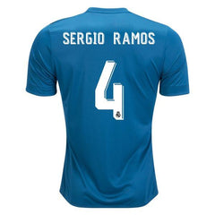 Real Madrid 17/18 Third Jersey Sergio Ramos #4 - IN STOCK NOW - TNT Soccer Shop
