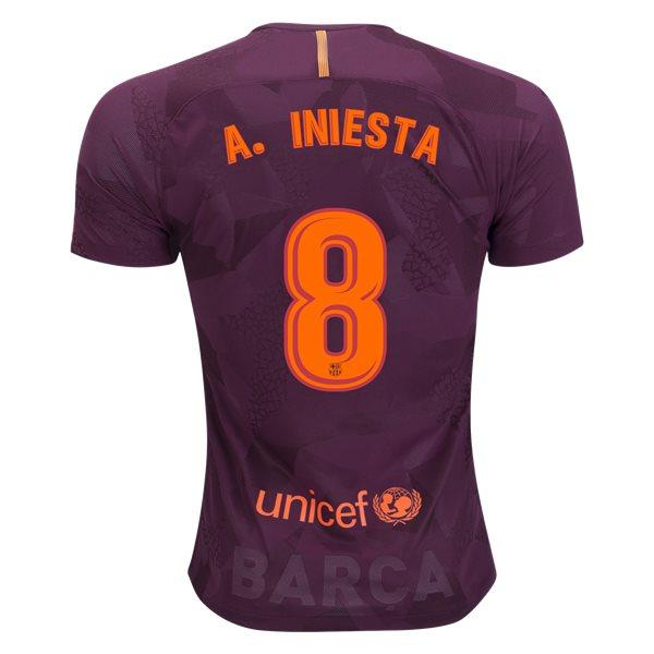 Barcelona 17/18 Third Jersey A. Iniesta #8 Ready to Ship! Jersey TNT Soccer Shop