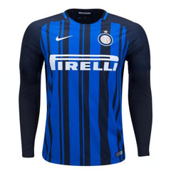 Inter Milan 17/18 Home LS Jersey Personalized - IN STOCK NOW - TNT Soccer Shop