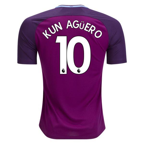 Man. City 17/18 Away Jersey Kun Agüero #10 Jersey TNT Soccer Shop