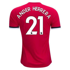 Man. United 17/18 Home Jersey A. Herrera #21 - IN STOCK NOW - TNT Soccer Shop