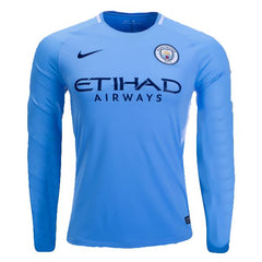 Man. City 17/18 Home LS Jersey Ready to ship! Long Sleeve Jersey TNT Soccer Shop