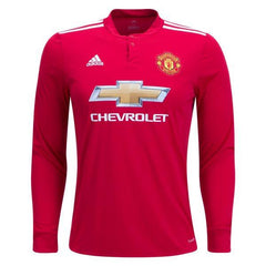 Man. United 17/18 Home LS Jersey Personalized