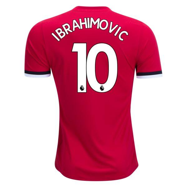 Man. United 17/18 Home Jersey Ibrahimovic #10 Jersey TNT Soccer Shop