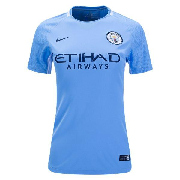Man. City 17/18 Home Women's Jersey Women Jersey TNT Soccer Shop