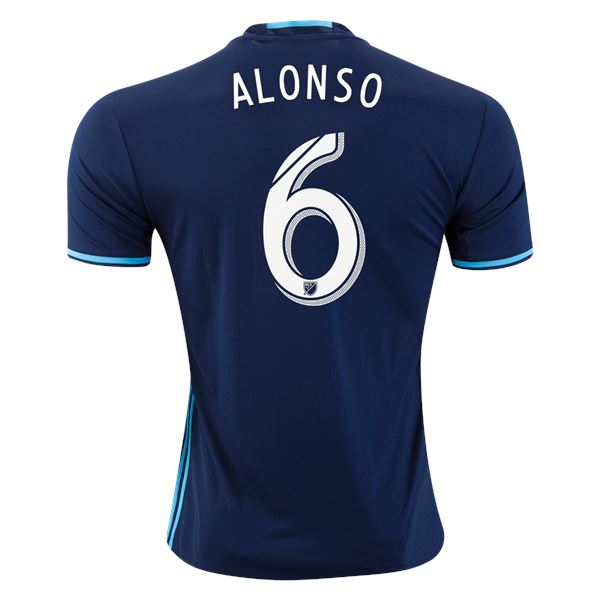 Seattle Sounders 16-17 Third Jersey Alonso #6 Jersey TNT Soccer Shop