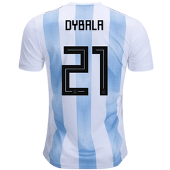 Argentina 2018 Home Jersey Paulo Dybala #21 - IN STOCK NOW - TNT Soccer Shop