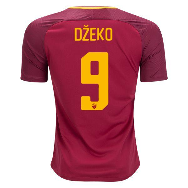 AS Roma 17/18 Home Jersey Džeko #9 - IN STOCK NOW - TNT Soccer Shop