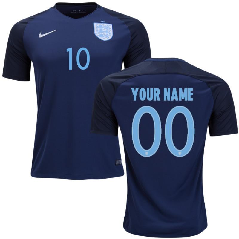 England 2017 Away Jersey Personalized Jersey TNT Soccer Shop
