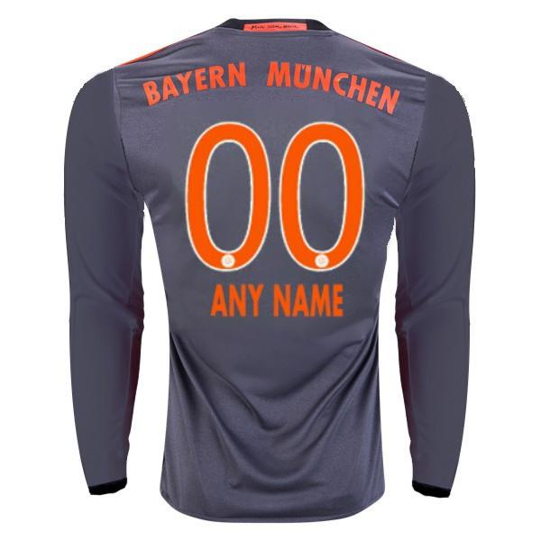 Bayern Munich 16/17 LS Away Jersey Personalized Long Sleeve Jersey TNT Soccer Shop