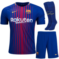 Barcelona 17/18 Home Full Kit Adult Kit TNT Soccer Shop