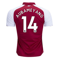 Arsenal 17/18 Home Jersey Aubameyang #14 Ready to ship! Jersey TNT Soccer Shop