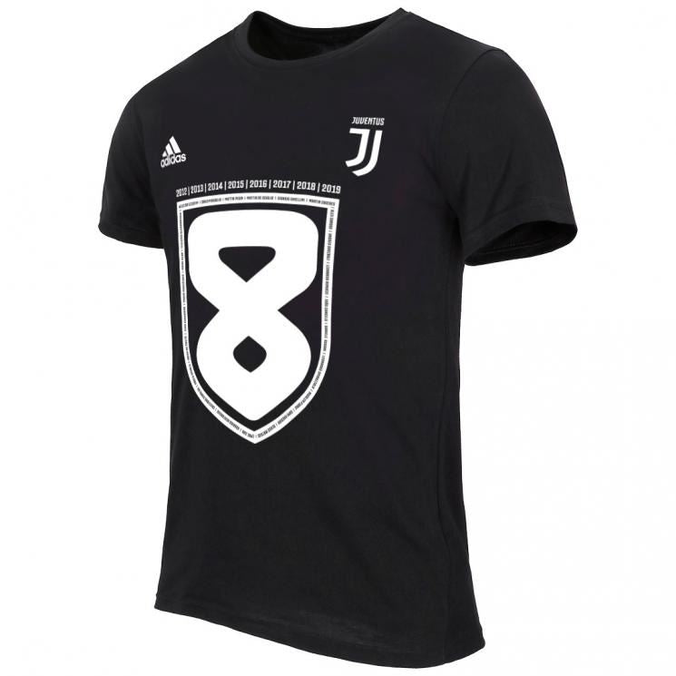 Juventus 19/20 Black Scudetto Celebratory T-Shirt Training Jerseys TNT Soccer Shop