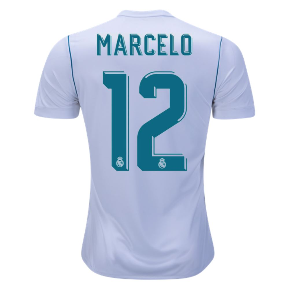Real Madrid 17/18 Home Jersey Marcelo
