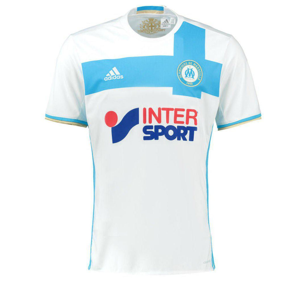ccee92ea2 Olympique Marseille 16 17 Home Jersey - IN STOCK NOW - TNT Soccer Shop