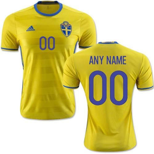 low priced c814a dc087 Sweden 15-16 Home Jersey Personalized