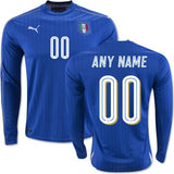 Italy 2016 Home LS Jersey Personalized - IN STOCK NOW - TNT Soccer Shop