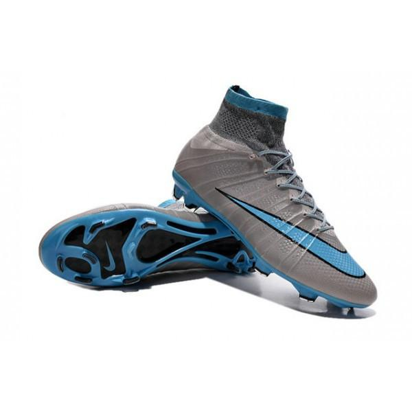 Mercurial Superfly FG -Gray Sky blue READY TO SHIP! Footwear TNT Soccer Shop