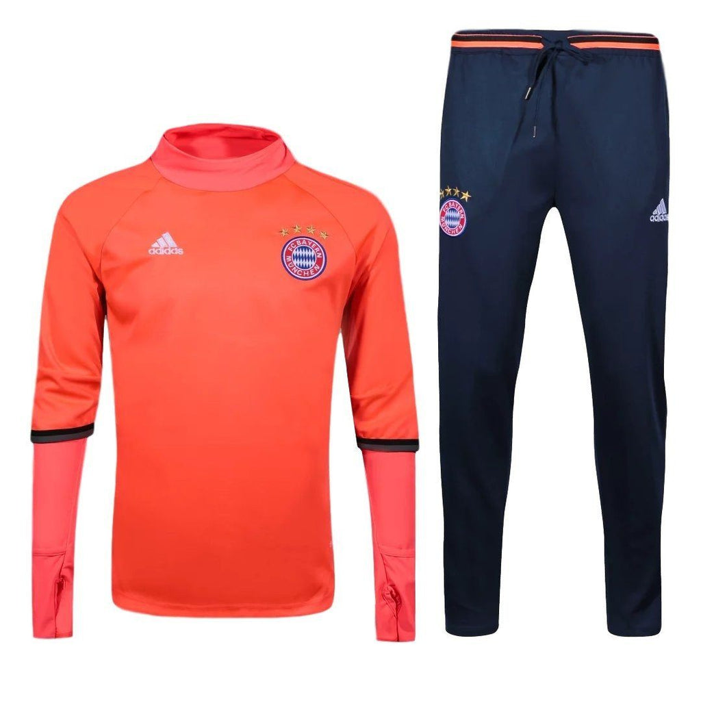 Bayern Munich 16/17 Solar Red Tracksuit - IN STOCK NOW - TNT Soccer Shop