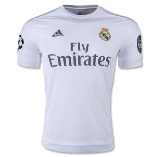 Real Madrid 15-16 Home Men's Jersey Ready to Ship! Jersey TNT Soccer Shop