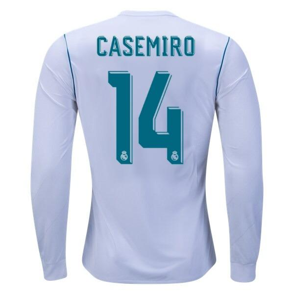 Real Madrid 17/18 Home Jersey LS Casemiro #14 Ready to Ship! Jersey TNT Soccer Shop