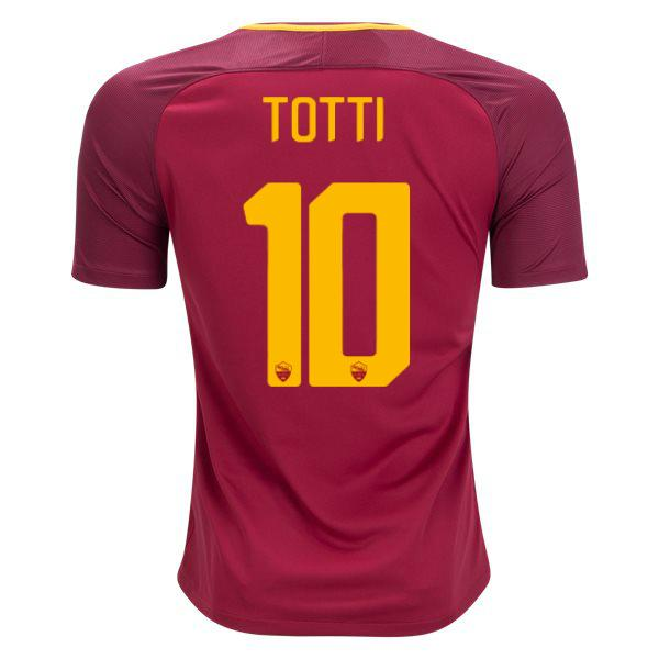AS Roma 17/18 Home Jersey Totti #10 - IN STOCK NOW - TNT Soccer Shop