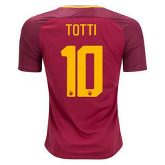 AS Roma 17/18 Home Jersey Totti #10 Ready to Ship! Jersey TNT Soccer Shop