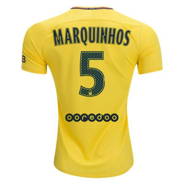 Paris Saint-Germain 17/18 Away Jersey Marquinhos #5 Jersey TNT Soccer Shop