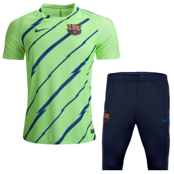 sneakers for cheap bd573 4723a Barcelona 2017 Ghost Green Training Kit
