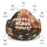 Protect Black Women Floral Face Mask