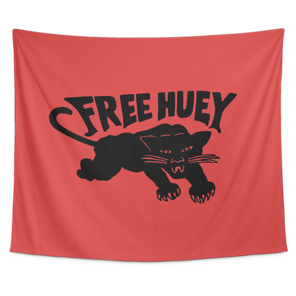 Free Huey Wall Tapestry in Red