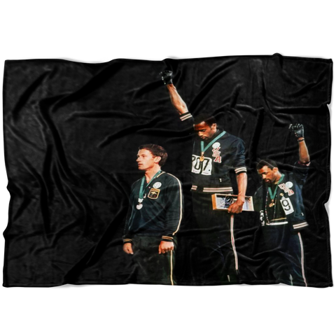 Black Power Olympics Fleece Blanket