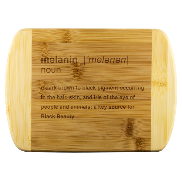 Melanin Definition Round Edge Wood Cutting Board