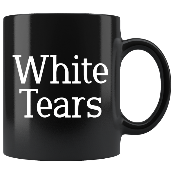 White Tears Black Mug